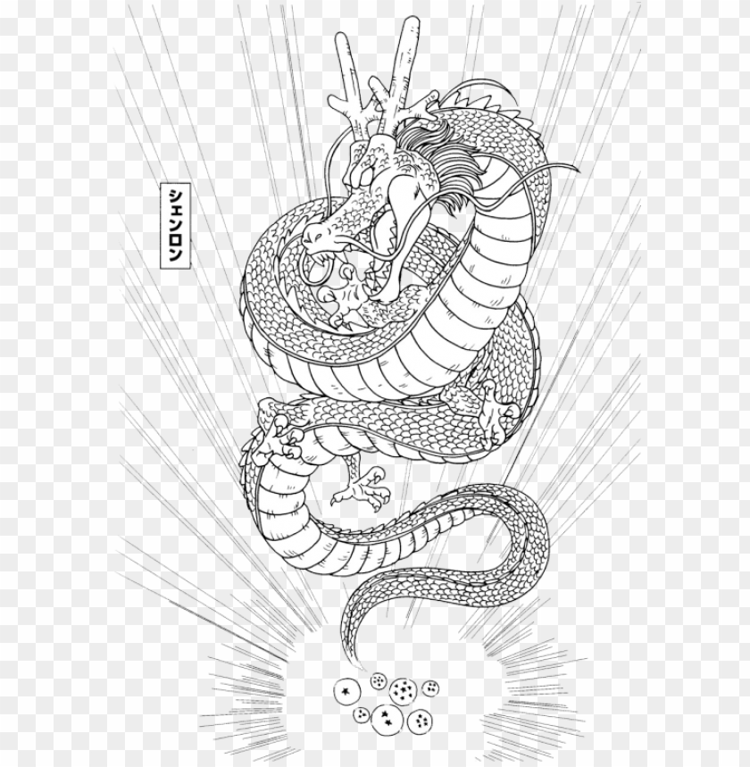 Shenlong Dragon Ball Z Coloring Pages Png Image With Transparent