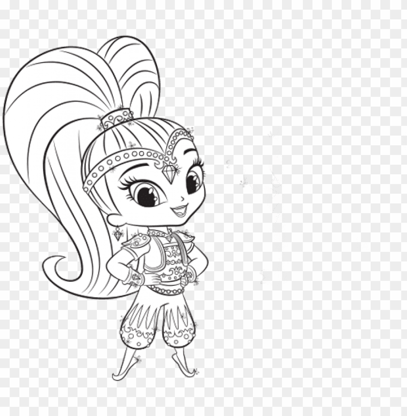 Shimmer And Shine Colouring Pages Shimmer Png Image With Transparent Background Toppng