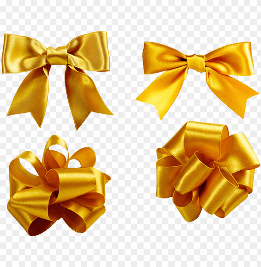 free PNG shoelace knot ribbon golden - gold ribbon for gift PNG image with transparent background PNG images transparent