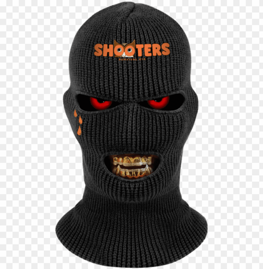 Shooters Skimask Grillz Goldteeth Rothco Wintuck Black 3 Hole Face Mask Png Image With Transparent Background Toppng