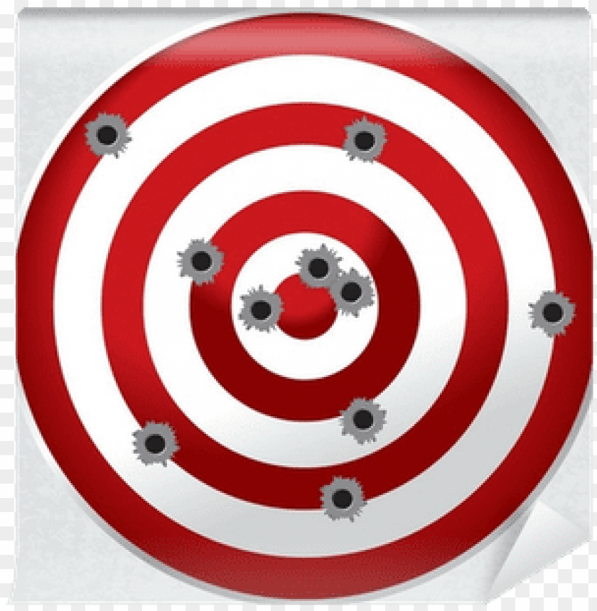 free PNG shooting range gun target with bullet holes wall mural - bullseye bullet hole PNG image with transparent background PNG images transparent