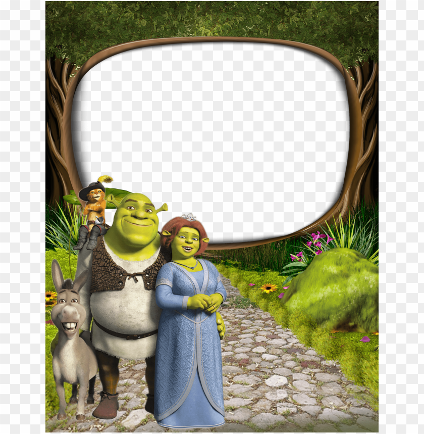 Shrek And Princess Fiona Png Kids Frame Background Best Stock Photos Toppng