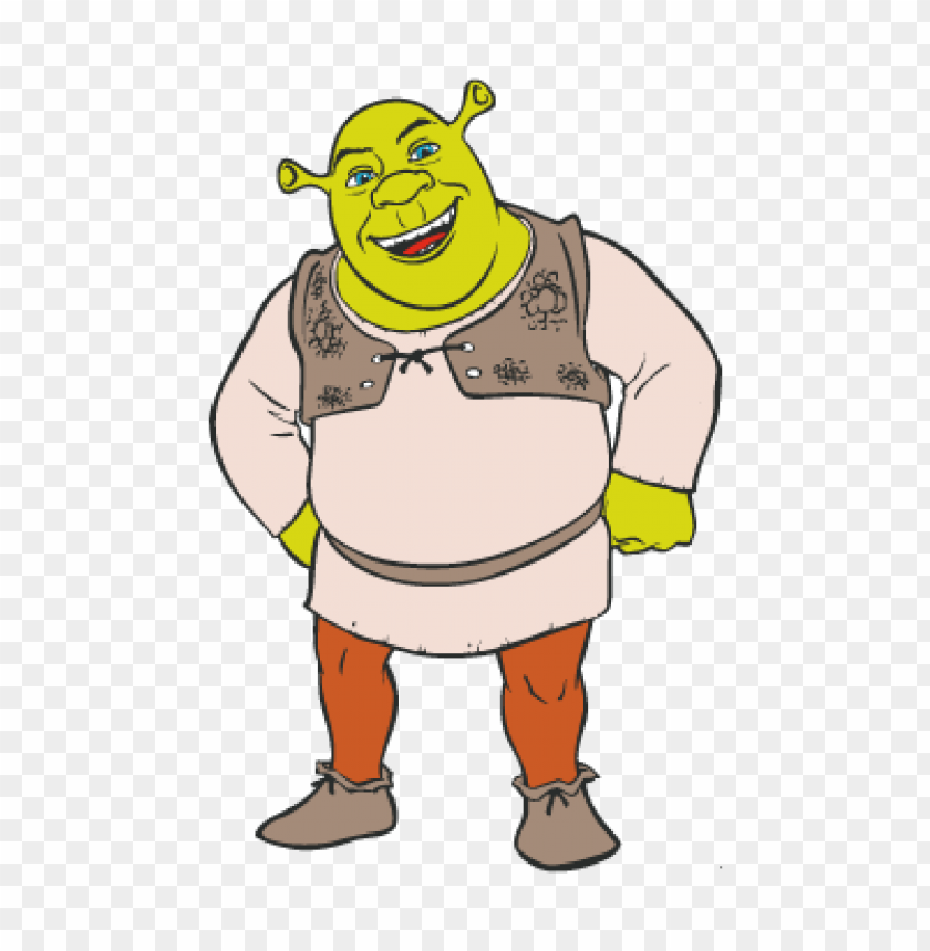 Shrek Character Vector Download Free Toppng