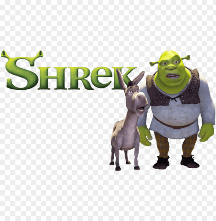 Shrek Movie Image With Logo And Character Shrek 1 Fanart Png Image With Transparent Background Toppng
