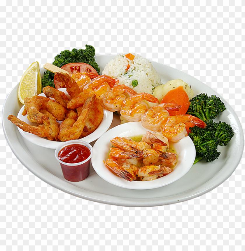 free PNG shrimp trio - shrimps dish PNG image with transparent background PNG images transparent