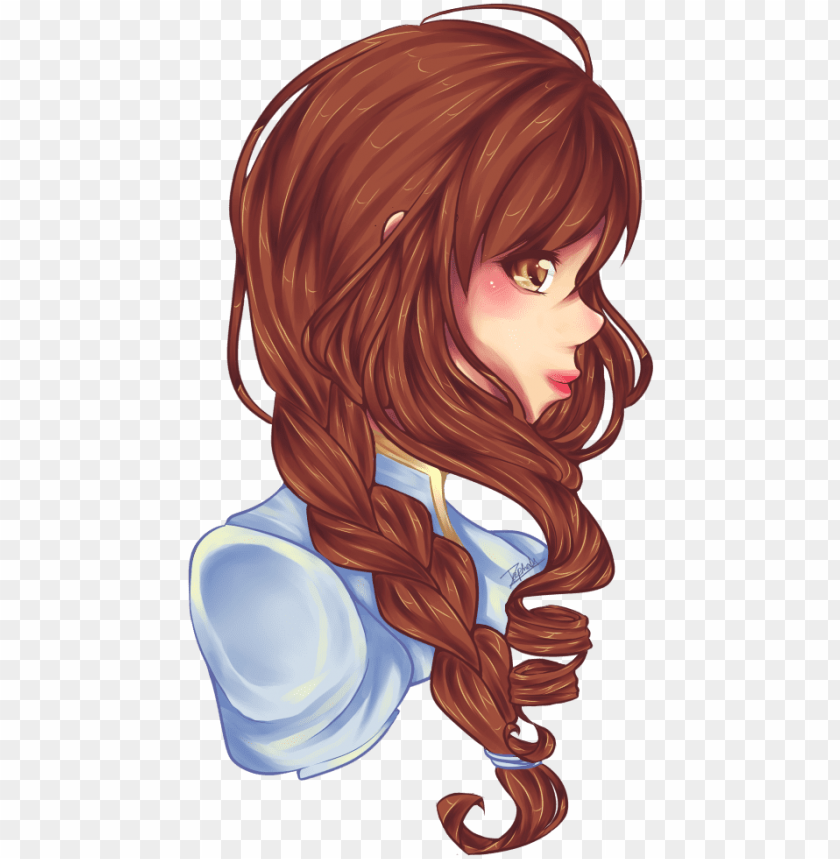 free PNG side braid by kuroibarrahime on deviantart jpg download - anime braid side view PNG image with transparent background PNG images transparent