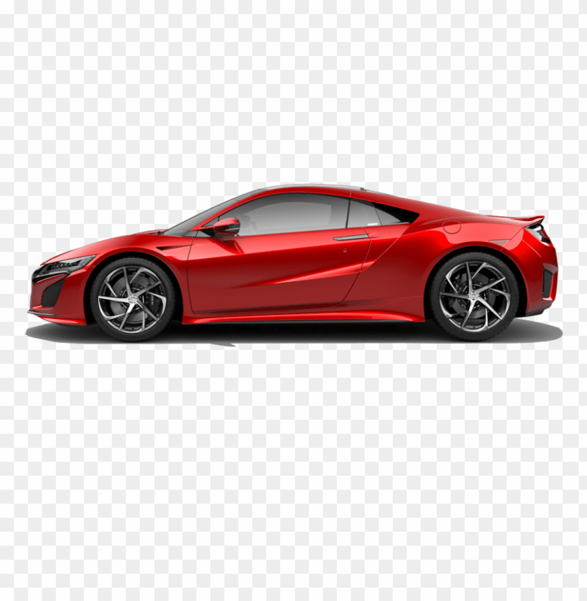 free PNG side facing honda nsx in valencia red pearl - car left view PNG image with transparent background PNG images transparent
