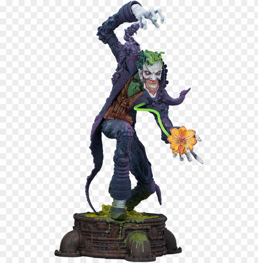 free PNG sideshow collectibles the joker statue - joker PNG image with transparent background PNG images transparent