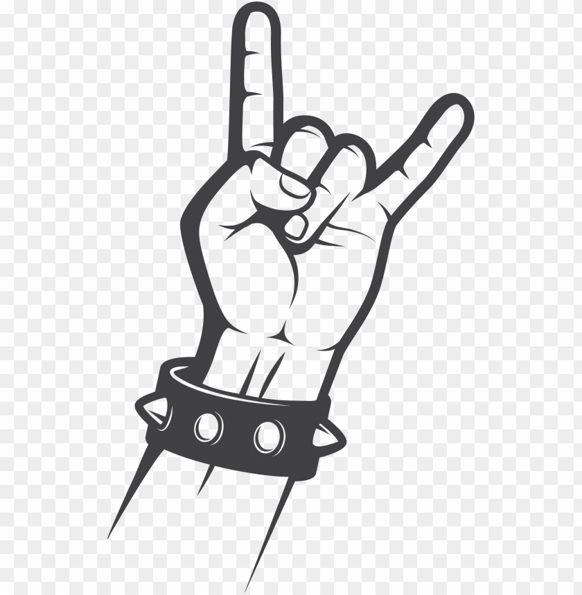 free PNG sign of the horns rock music gesture hand - transparent rock hand si PNG image with transparent background PNG images transparent
