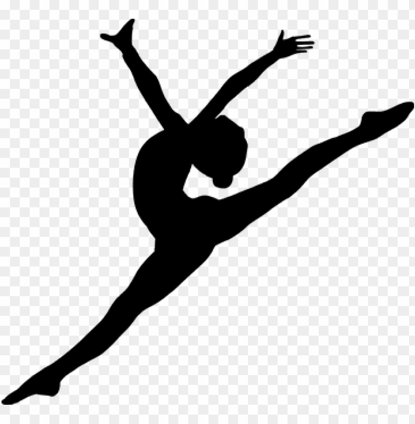 Silhouette Ballet Dancing Jumping Dancer Silhouette Transparent Background Png Image With Transparent Background Toppng