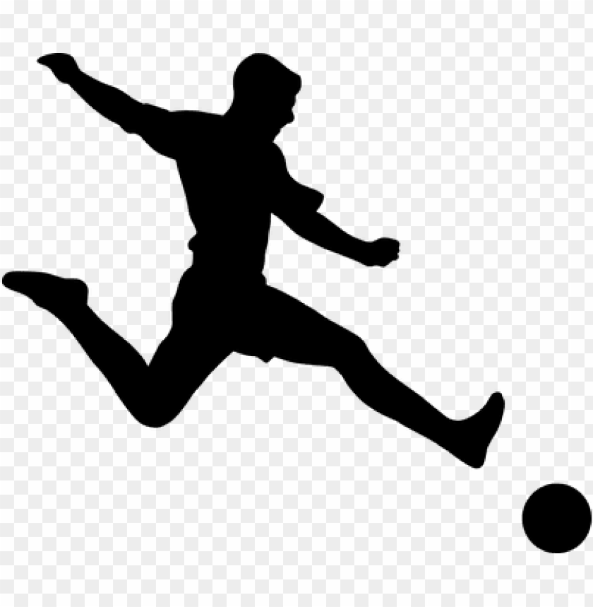 free PNG silhouette, football, player, shooting - soccer player silhouette PNG image with transparent background PNG images transparent