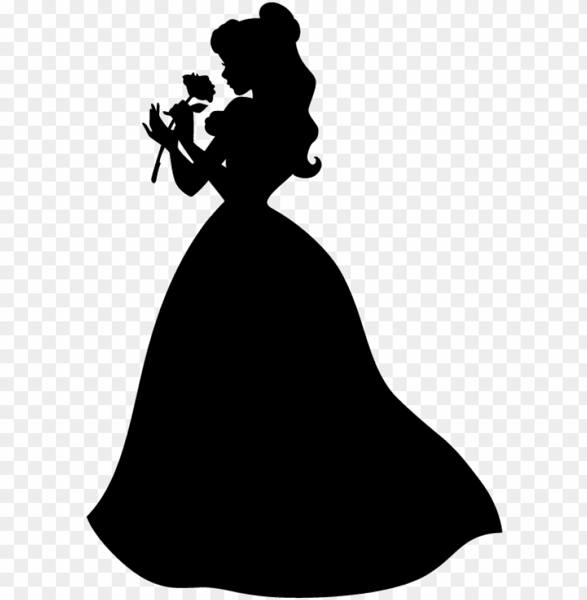 free PNG silhouette gold belle photography beast rose dress - beauty and the beast rose silhouette PNG image with transparent background PNG images transparent