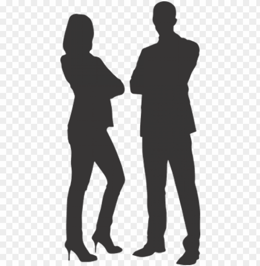 silhouette man and woman on heels man woman business vector png image with transparent background toppng man woman business vector png image