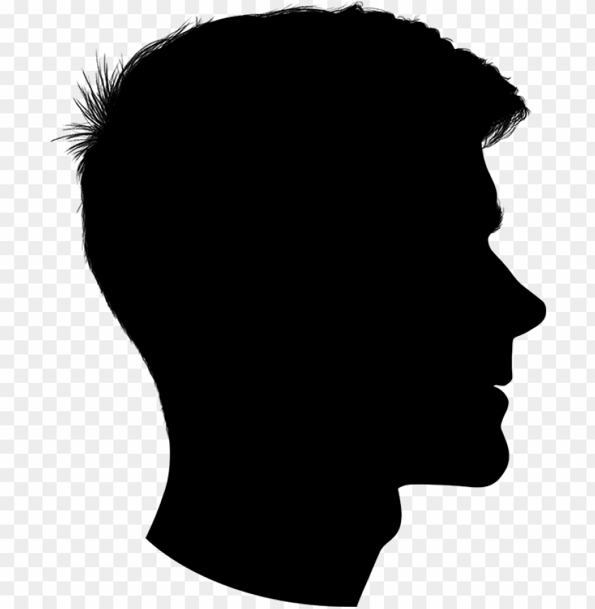 free PNG silhouette profile outline boy PNG image with transparent background PNG images transparent