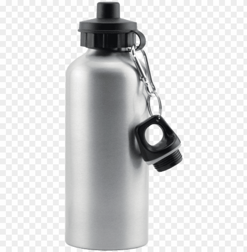 free PNG silver aluminum water bottle - water bottle sublimation blanks PNG image with transparent background PNG images transparent