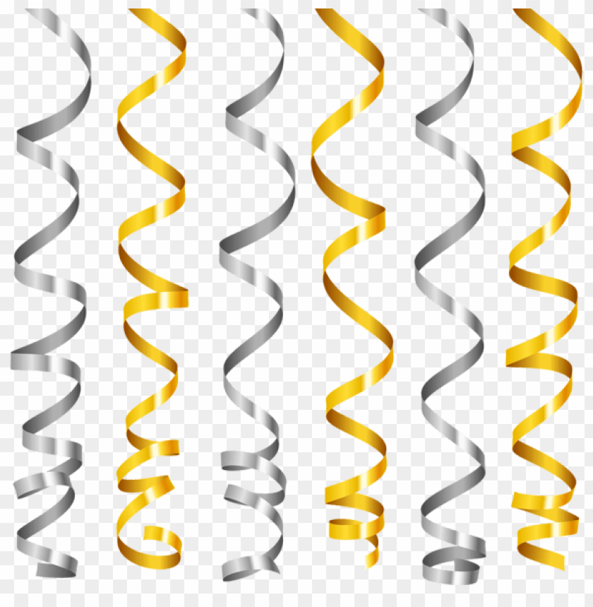 free PNG Download silver and gold curly ribbons clipart png photo   PNG images transparent