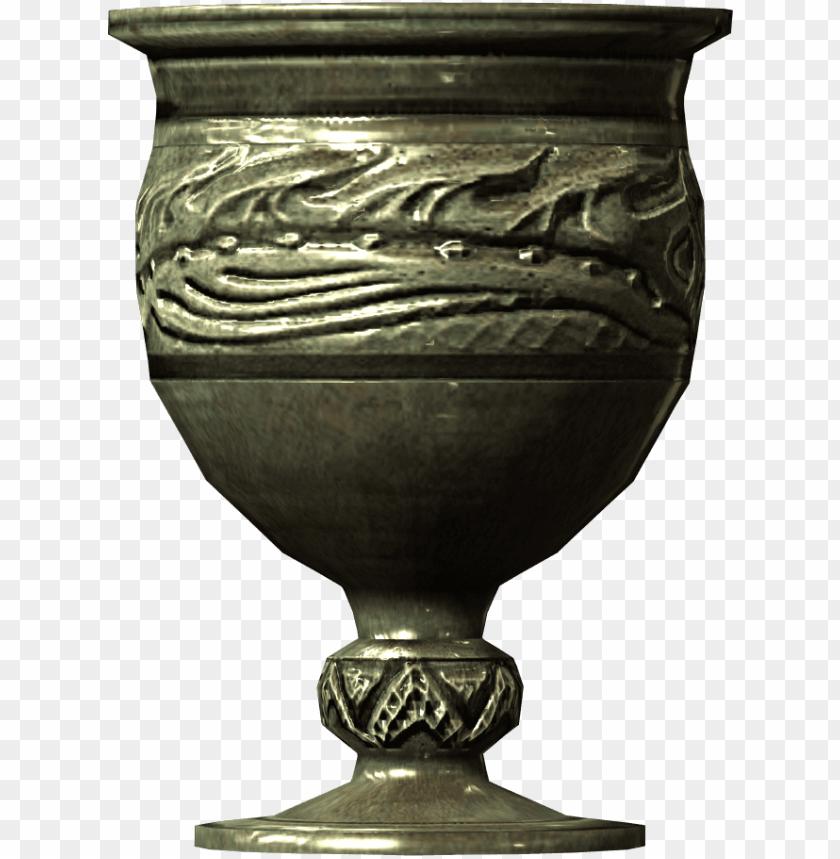 free PNG silver goblet 02011db2 - oblivion silver urn 2 PNG image with transparent background PNG images transparent