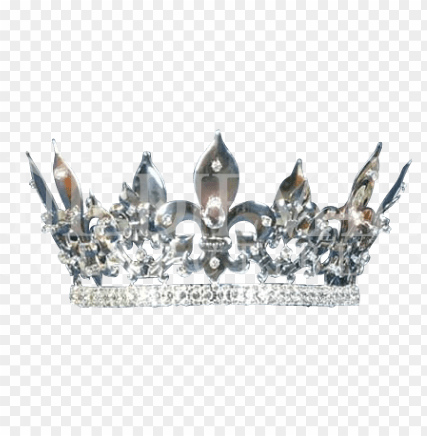free PNG silver queen crown - silver king crown PNG image with transparent background PNG images transparent