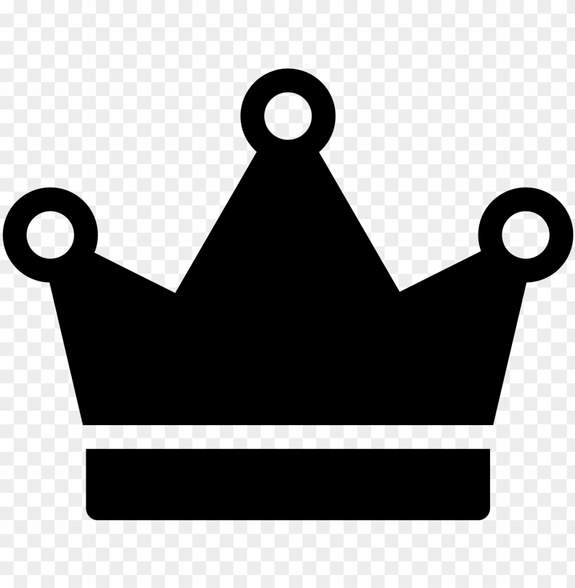 free PNG simple crown vector - corona emojis blanco negro PNG image with transparent background PNG images transparent