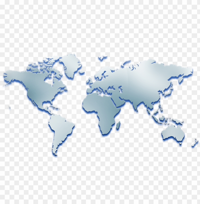 Simple Map Of The World Png Image With Transparent Background Toppng