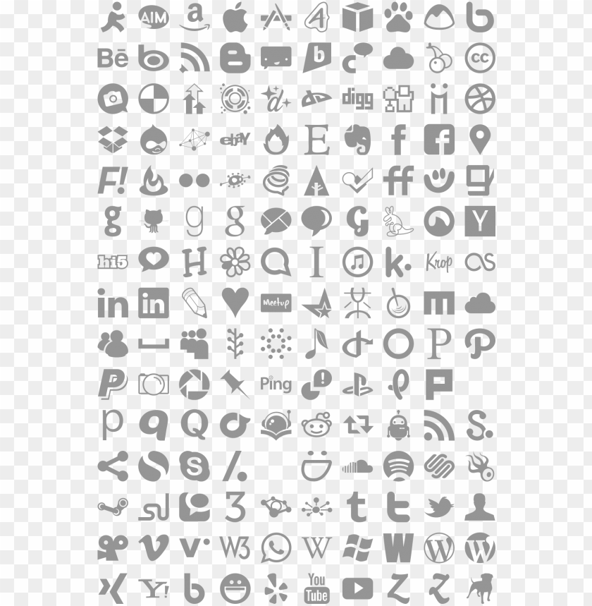 free PNG simple social media icons - vector social media icons PNG image with transparent background PNG images transparent
