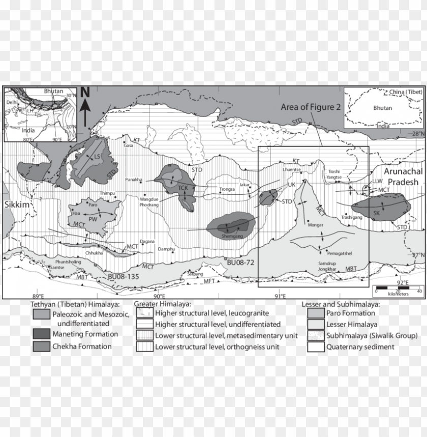 free PNG simplifi ed geologic map of bhutan and surroundi PNG image with transparent background PNG images transparent