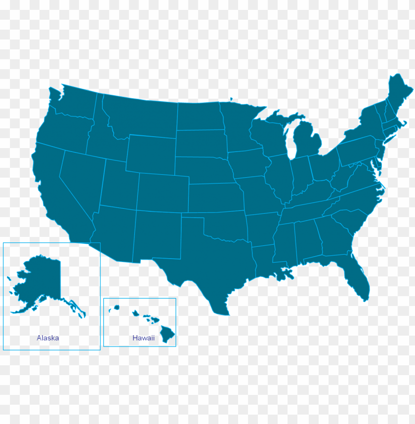 free PNG simplified map of us states download usa eastern major - united states map vector PNG image with transparent background PNG images transparent