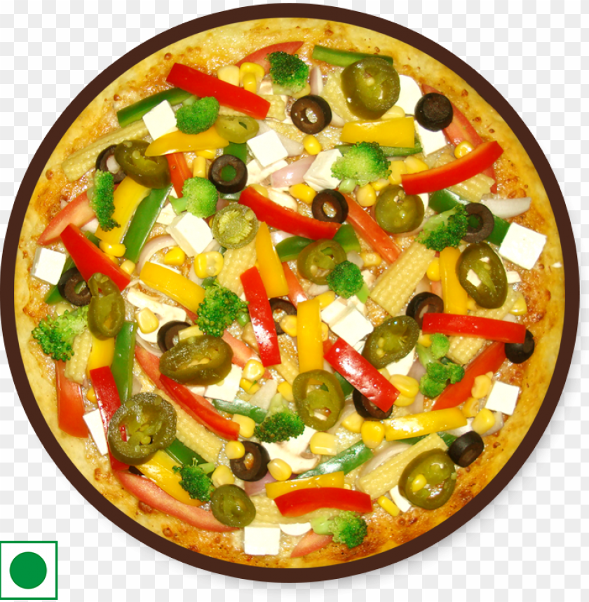 free PNG simply veg pizza - baby corn pizza PNG image with transparent background PNG images transparent