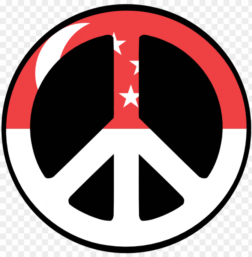 free PNG singapore peace symbol flag 4 scallywag peacesymbol - logo peace PNG image with transparent background PNG images transparent