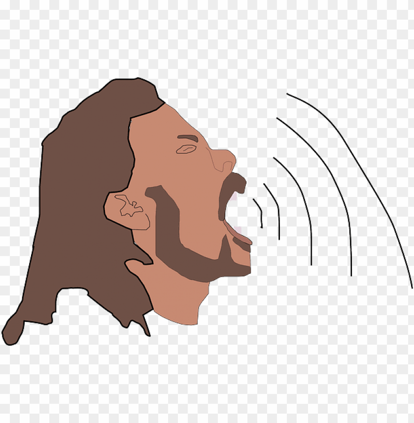 free PNG singing, high, audio, sound, wave, sing, strong, waves - man open mouth PNG image with transparent background PNG images transparent
