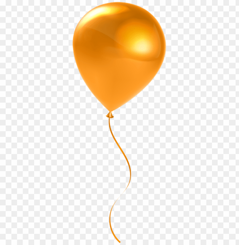 free PNG Download single orange balloon transparent png images background PNG images transparent