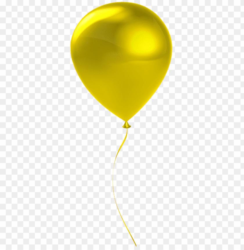free PNG Download single yrllow balloon transparent png images background PNG images transparent