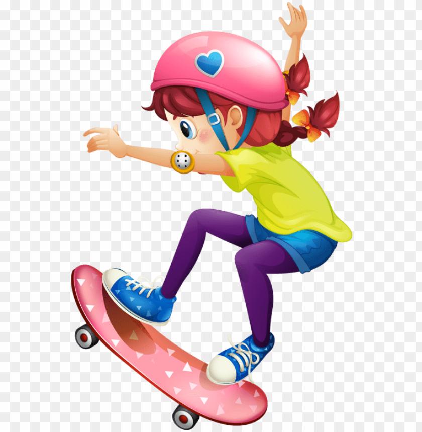 free PNG skateboard girl PNG image with transparent background PNG images transparent