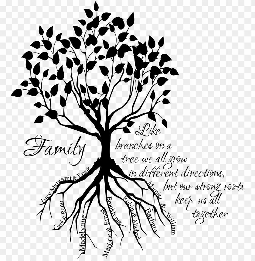 Sketch Family Tree Drawing Png Image With Transparent Background Toppng