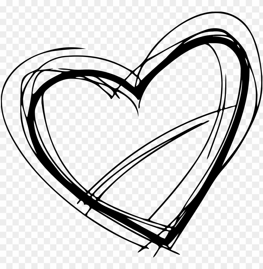 free PNG sketched heart clipart freeuse stock - heart sketch PNG image with transparent background PNG images transparent