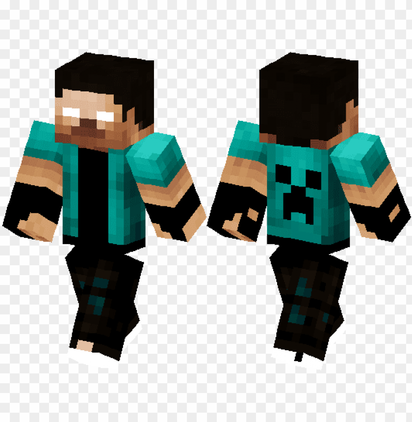 Skin Minecraft Pe Herobrine Png Image With Transparent