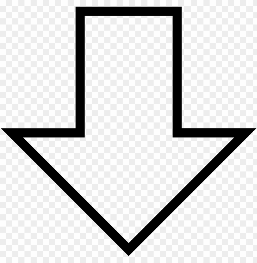 free PNG skinny down arrow encode clipart to base png skinny - white arrow down PNG image with transparent background PNG images transparent