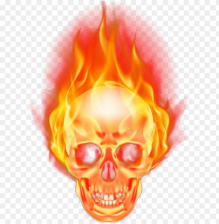 free PNG skull burning burn fire firing png vector transparent - transparent fire skull PNG image with transparent background PNG images transparent
