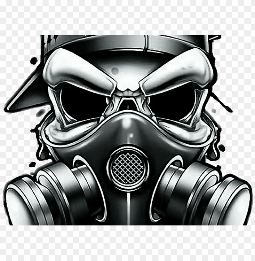 Skull Balaclava Roblox Skull Clipart Gangsta Skull Gas Mask Png Image With Transparent Background Toppng