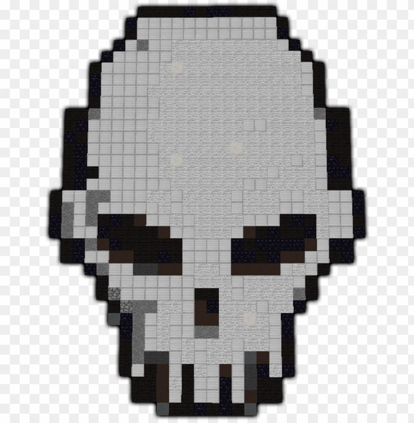 Skull Pixel Art Minecraft Skull Pixel Art Small Png Image With Transparent Background Toppng