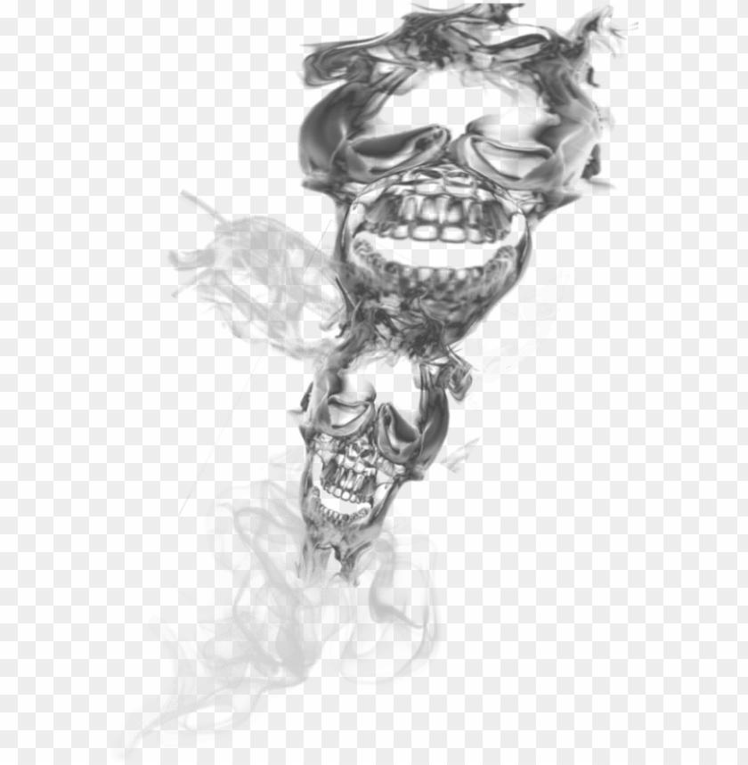free PNG skulls, smoking, clip art, smocking, tobacco smoking, - skull smoke PNG image with transparent background PNG images transparent