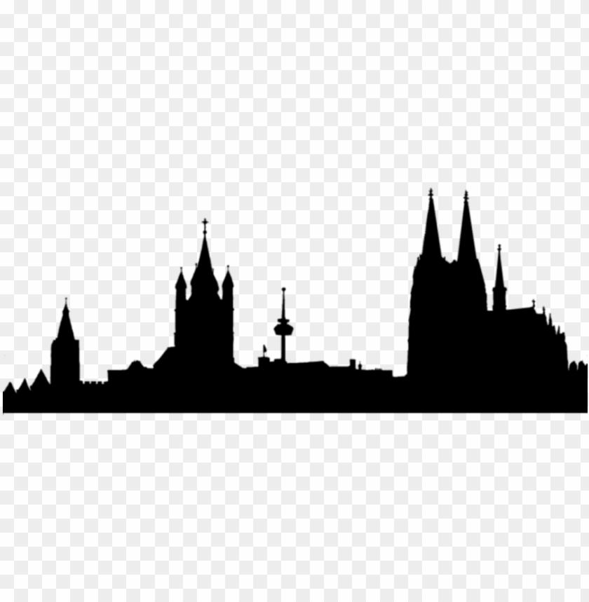 Skyline Divider Black By Toxicestea D4fsw2s Hogwarts Skyline Png
