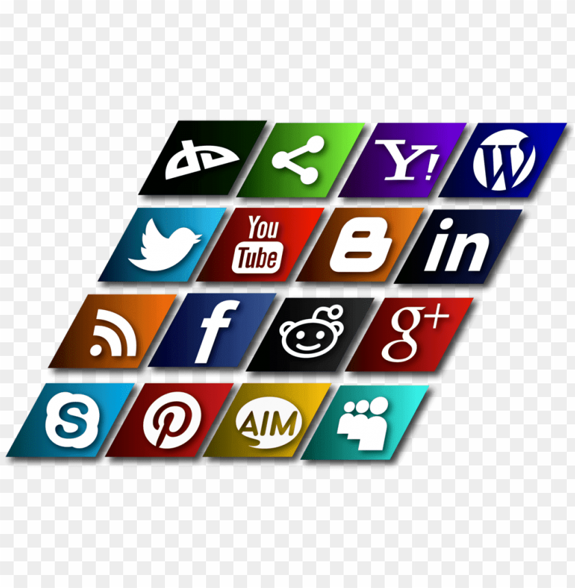 free PNG slanted social media icons vector - social media icons slanted png - Free PNG Images PNG images transparent