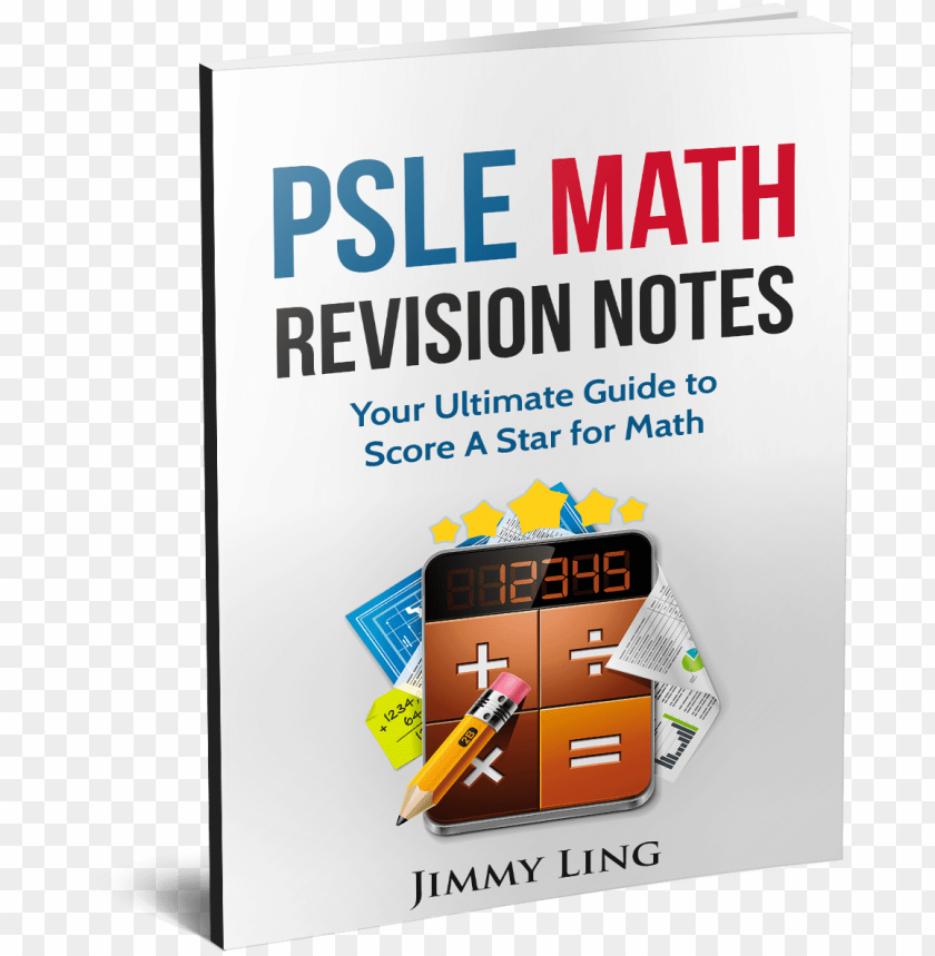 free PNG sle math revision notes 3d book cover - psle maths revision notes PNG image with transparent background PNG images transparent