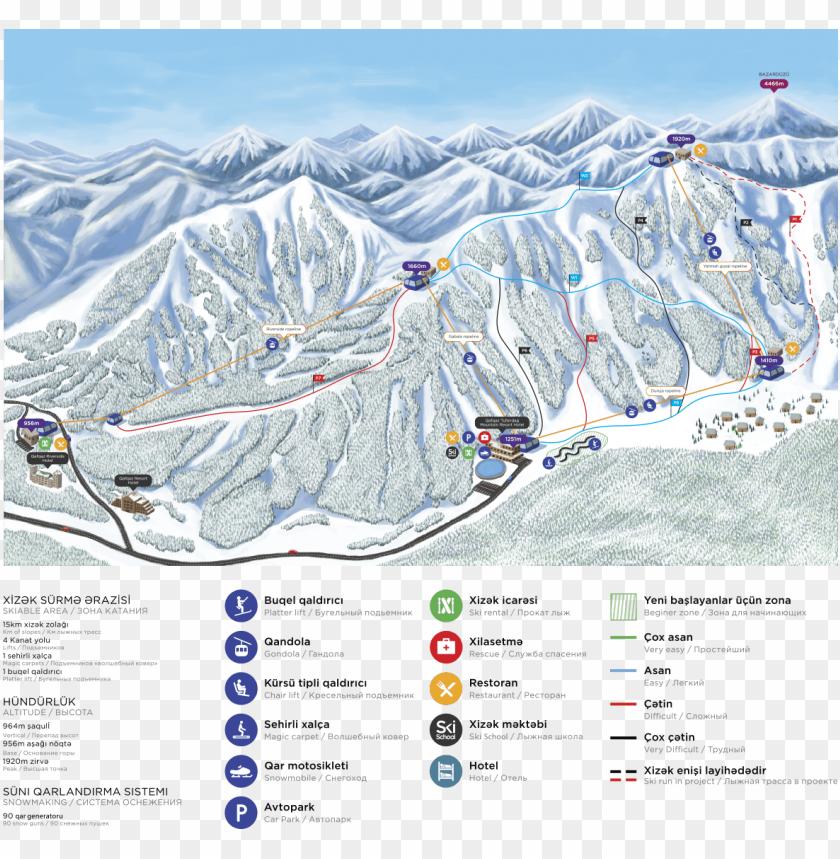 free PNG slopemap - tufandag ski resort PNG image with transparent background PNG images transparent