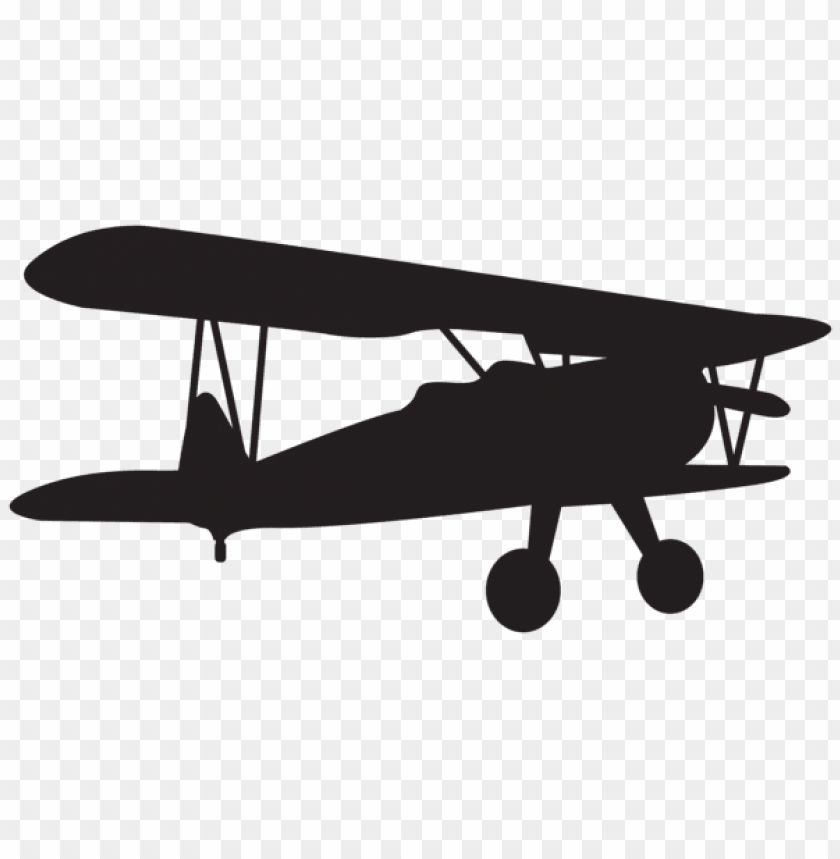 free PNG small plane silhouette png - Free PNG Images PNG images transparent