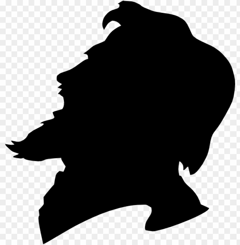 Small Side View Face Silhouette Ma Png Image With Transparent Background Toppng