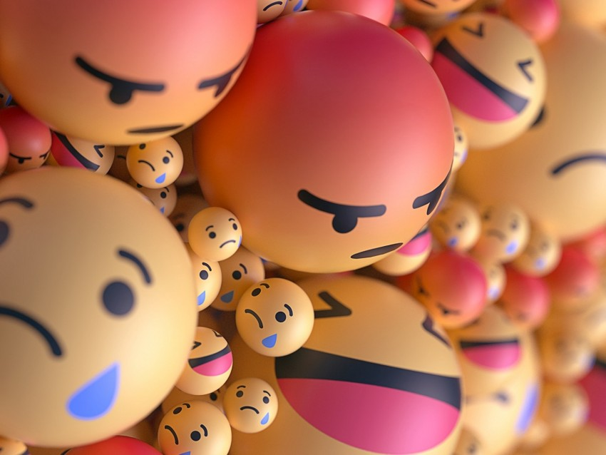 smiles, emoticons, balls, 3d, emotions background@toppng.com