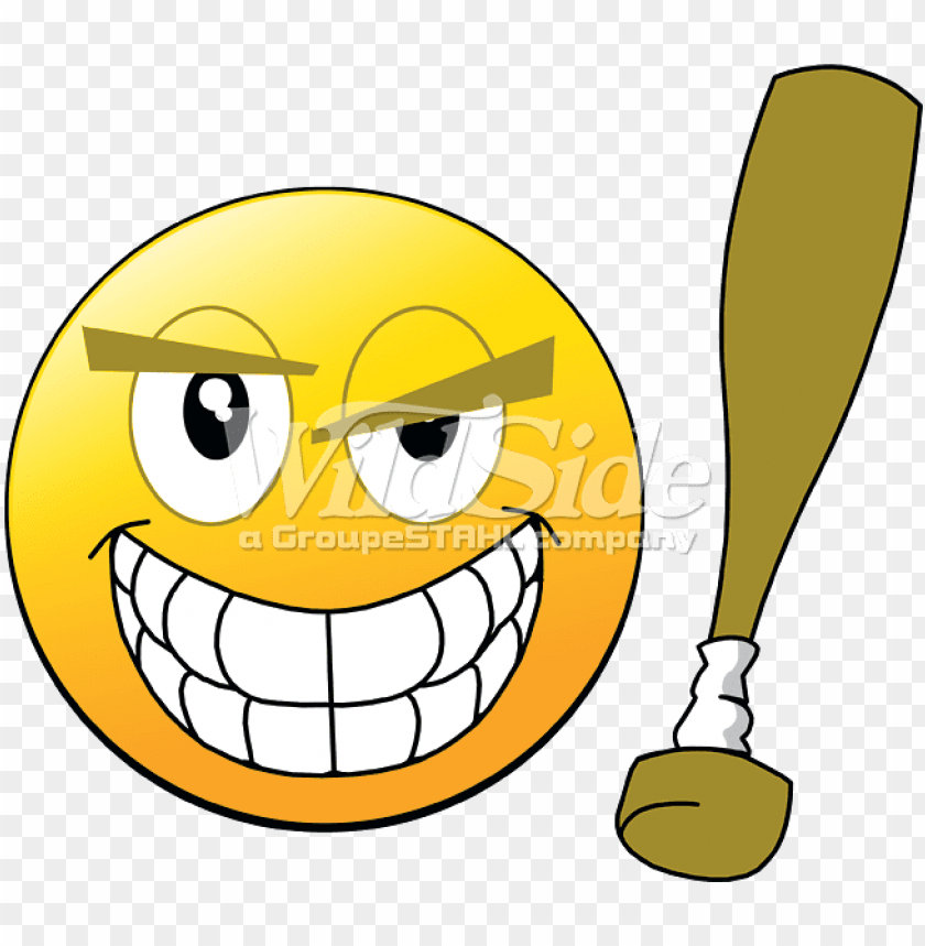 free PNG smiley face with baseball bat PNG image with transparent background PNG images transparent