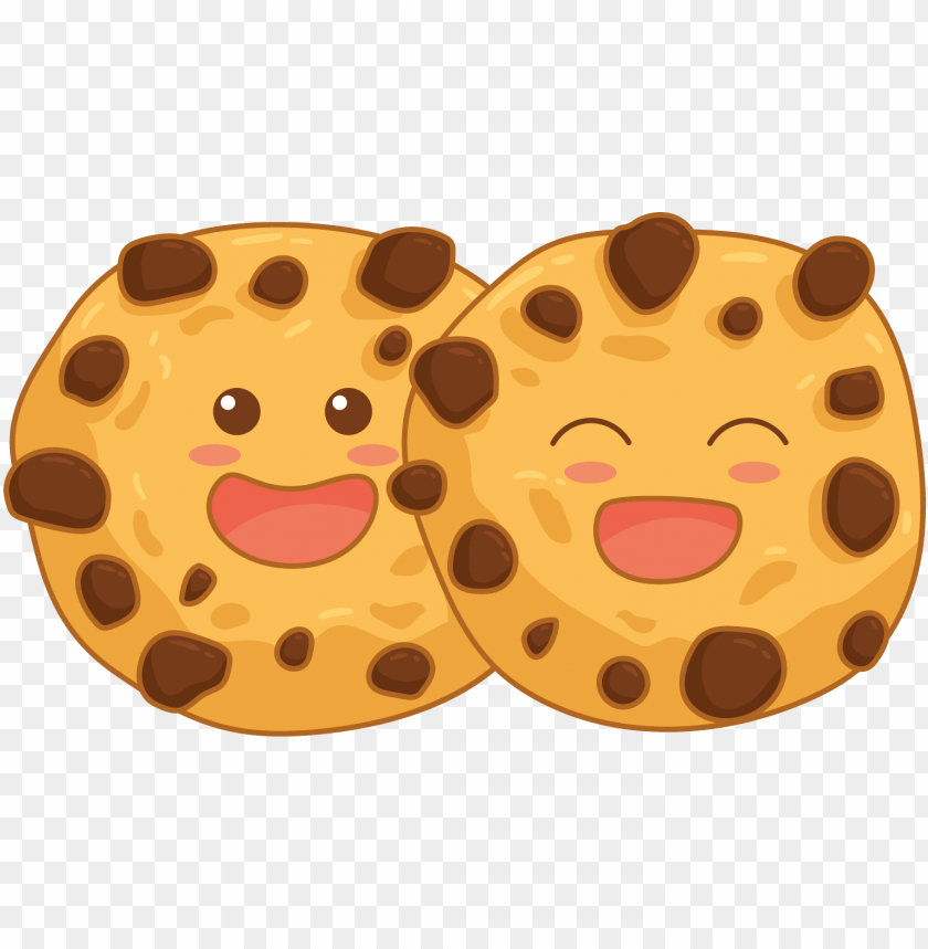 Smiling Chocolate Chip Cookie Png Image With Transparent Background Toppng